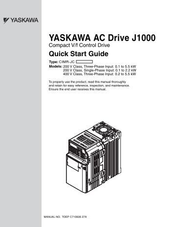 yaskawa ac drive j1000 compact v f control drive quick start yaskawa ac drive j1000 bretzel gmbh antriebs
