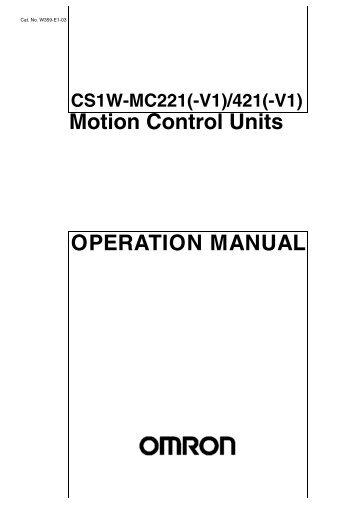 OPERATION MANUAL Motion Control Units