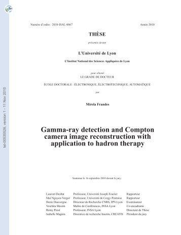 Détection des rayons gamma et reconstruction d'images pour la ...