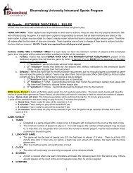 EXTREME DODGEBALL RULES - Bloomsburg University