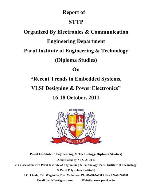 Report Of Sttp Organized By Electronics Communication