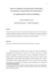 Un exemple à partir des controverses climatiques Scotto d'Apollonia ...