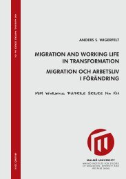 MIGRATION AND WORKING LIFE IN TRANSFORMATION ... - MUEP