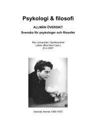 Psykologi & filosofi