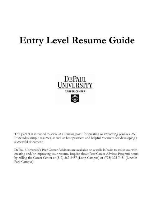 Entry Level Resume Guide