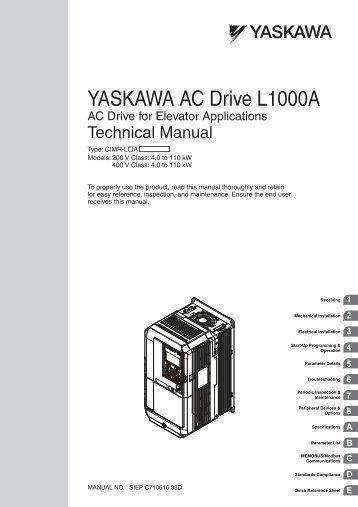 YASKAWA AC Drive-J1000 Compact V/f Control Drive Quick