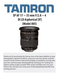 SP AF 17 ~ 35 mm F/2.8 ~ 4 Di LD Aspherical [IF] (Model ... - Tamron