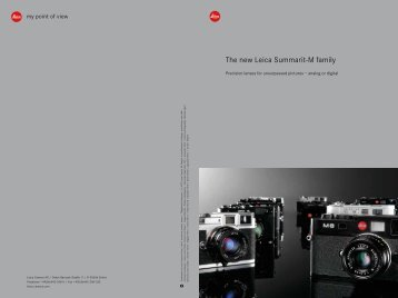 The new Leica Summarit-M family - Lens-Club