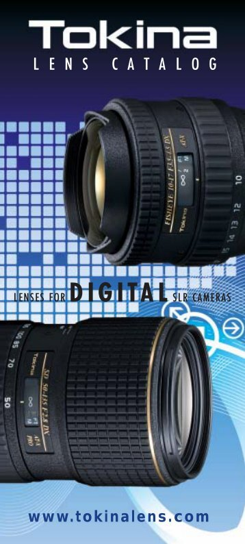 Catalogue of Tokina lenses in English - All About Photographic ...