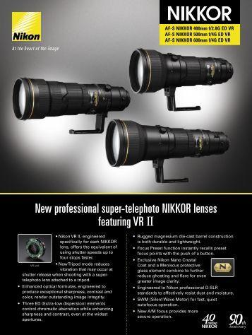 AF-S NIKKOR 400mm f/2.8 G ED - Lens-Club