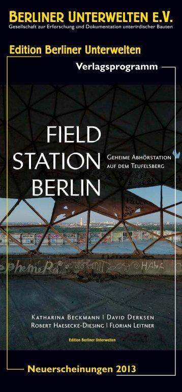 April 2013 - Berliner Unterwelten eV