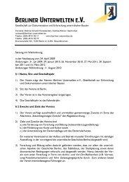 Satzung mit Wahlordnung - Berliner Unterwelten eV