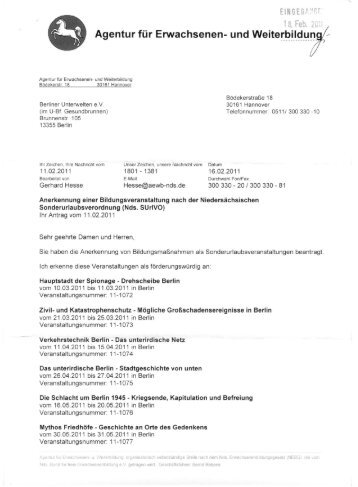 Agentur für Erwachsenen - Berliner Unterwelten eV