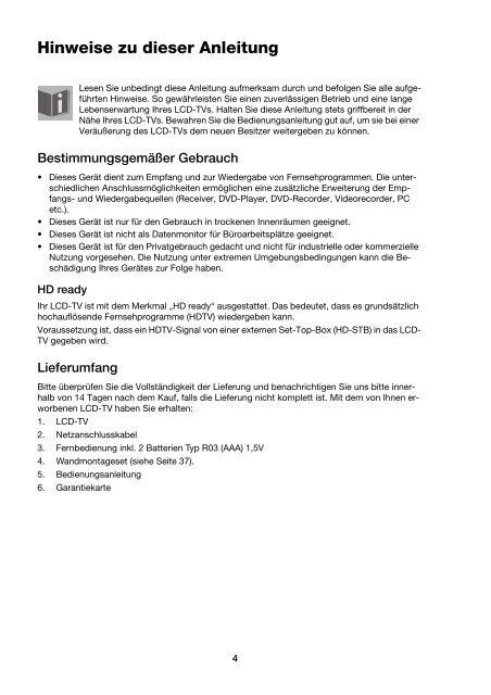 Rückseite (Anschlüsse und Betriebsschalter) - medion