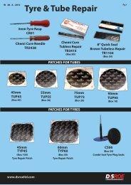 Tyre & Tube Repairs - D&S ROE LTD