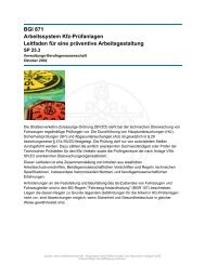 BGI 871 Arbeitssystem Kfz-Prüfanlagen Leitfaden für eine präventive