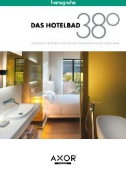 Das Hotelbad - Lösungen, Produkte und Inspirationen ... - Hansgrohe