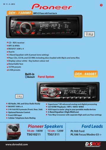 Car Audio - D&S ROE LTD