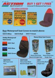 Seat Covers W - D&S ROE LTD