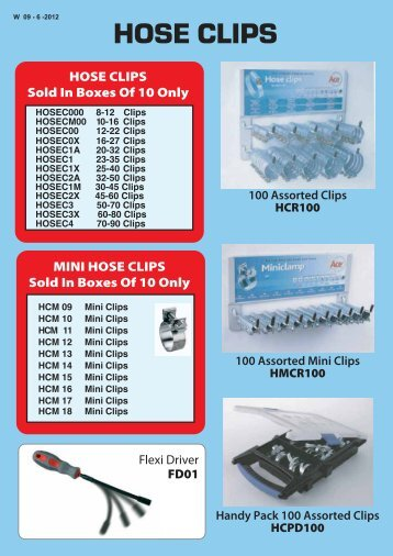 ACE Hose Clips W - D&S ROE LTD