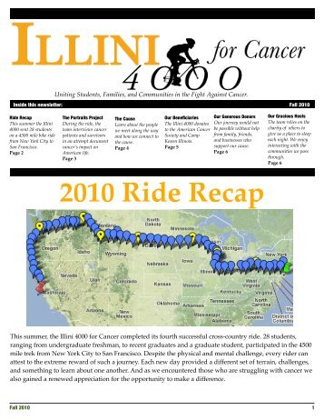 Fall 2010 Newsletter - Illini 4000