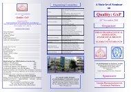 Quality: GxP - Gujarat Technological University
