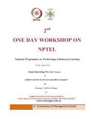 2 one day workshop on nptel - Gujarat Technological University