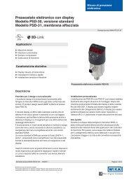 Pressostato elettronico con display Modello PSD-30, versione ...