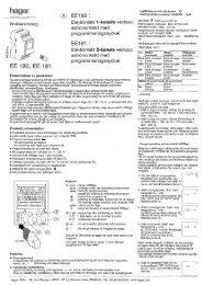 EE180 I Eiektroniskt 1-kanais veokour, astronomiskt med ... - Hager