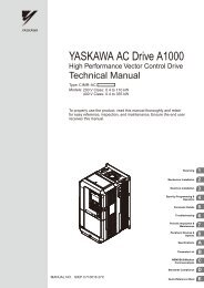 A1000 High Performance Vector Control Drive Technical Manual