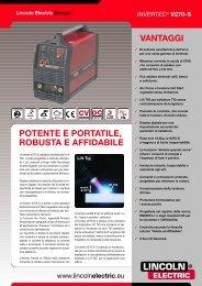 vantaggi potente e portatile, robusta e affidabile - Lincoln Electric