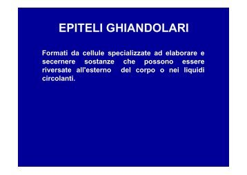 2009-10 Tessuto epiteliale - Epiteli ghiandolari - ImageShack