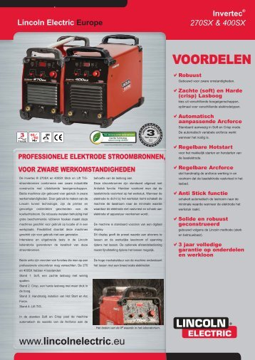 leaflet 270-400sx NL.indd - Lincoln Electric