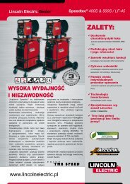 ZALETY: - Lincoln Electric