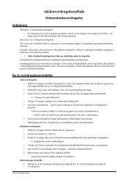 Aktieoverdragelsesaftale - JuraWiki