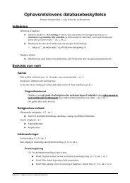 Ophavsret - Databasebeskyttelse - JuraWiki