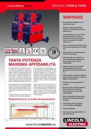 vantaggi tanta potenza massima affidabilità - Lincoln Electric