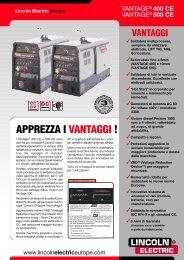 APPREZZA I VANTAGGI ! - Lincoln Electric