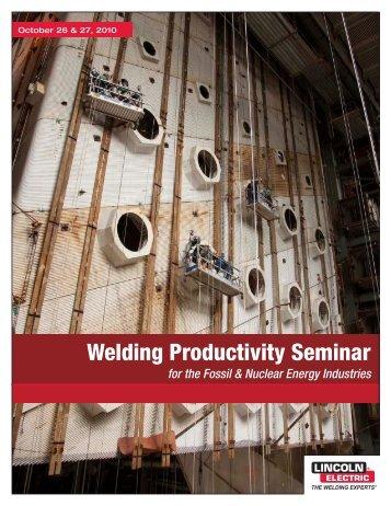 Welding Productivity Seminar - Lincoln Electric