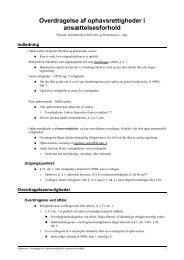 Overdragelse af ophavsrettigheder i ansættelsesforhold - JuraWiki
