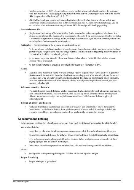 Aktivitetsoverdragelse - JuraWiki