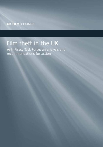 Film theft in the UK - Future of Copyright