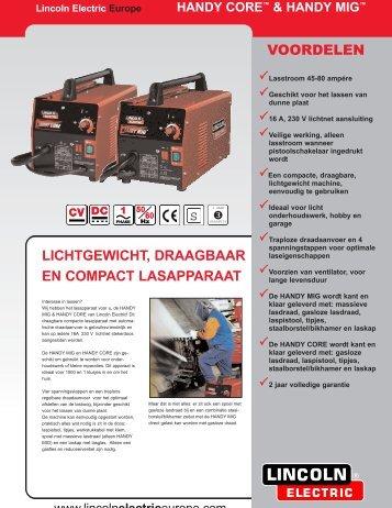 VOORDELEN LICHTGEWICHT, DRAAGBAAR EN ... - Lincoln Electric