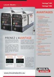 avantages PReneZ L'avantage - Lincoln Electric