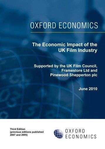 The Economic Impact of the UK Film Industry - BFI - British Film ...
