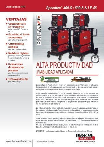 ALTA PRODUCTIVIDAD - Lincoln Electric