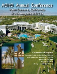 2010 Conference Program - American Society for Horticultural Science