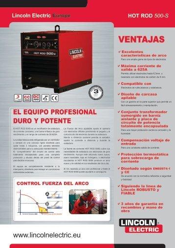 VENTAJAS - Lincoln Electric