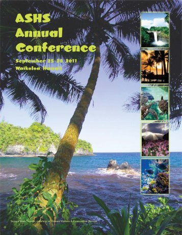 ASHS Annual Conference - American Society for Horticultural Science
