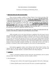 Honors Thesis Guidelines (PDF) - Thayer School of Engineering ...